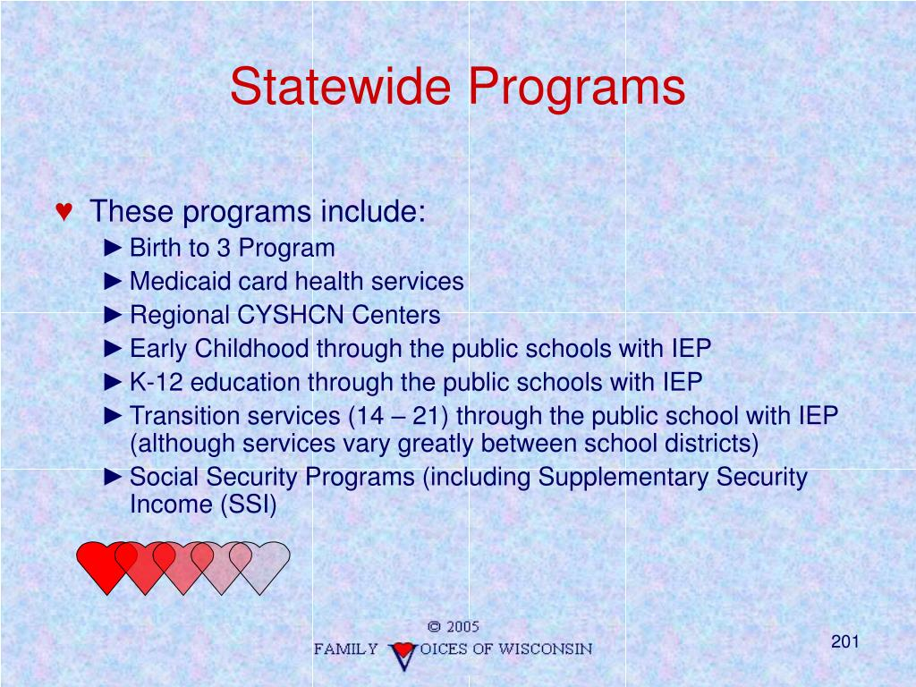 Statewide Programs