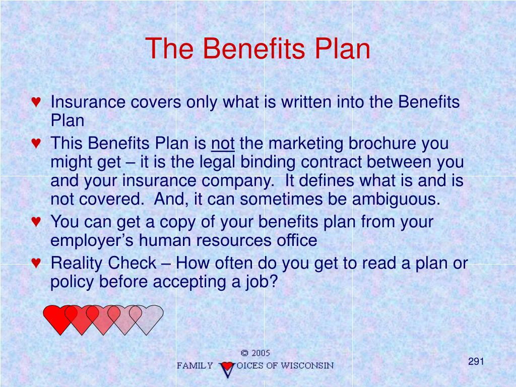 The Benefits Plan