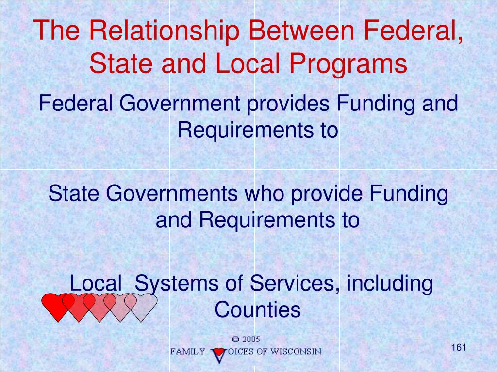 The Relationship Between Federal, State and Local Programs
