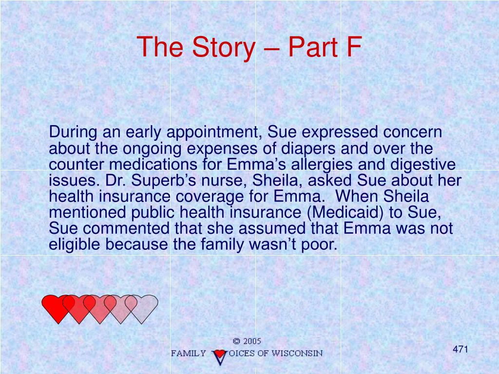The Story – Part F