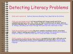 detecting literacy problems