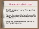 how synthetic phonics helps
