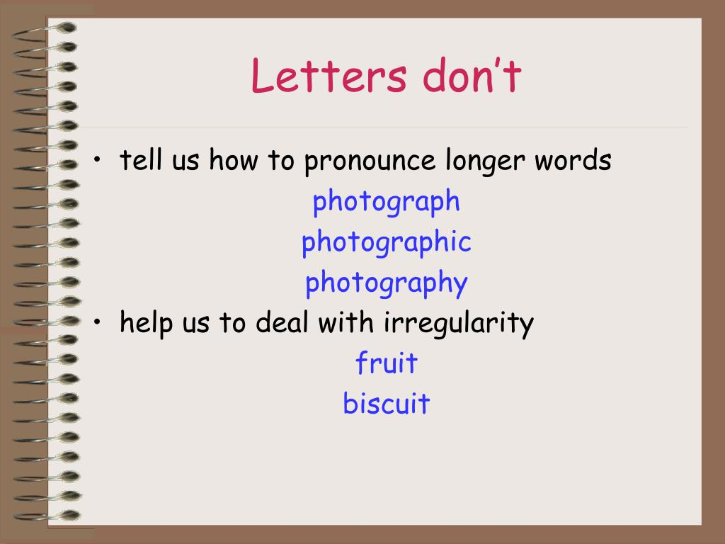 Letters don't