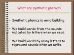 what are synthetic phonics