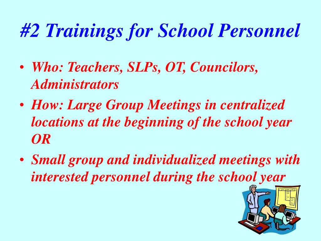 #2 Trainings for School Personnel