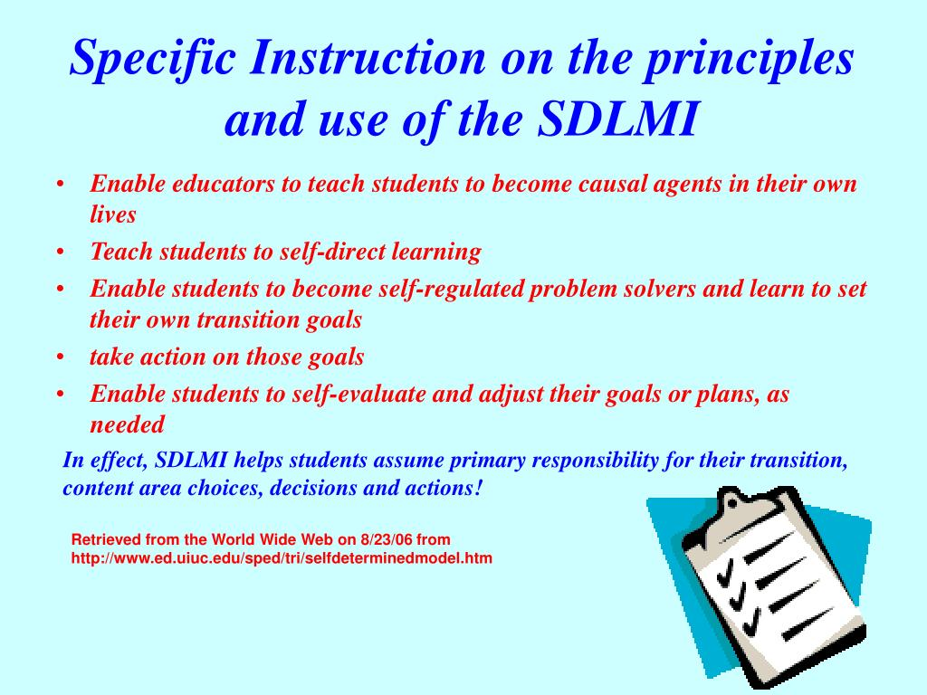 Specific Instruction on the principles and use of the SDLMI