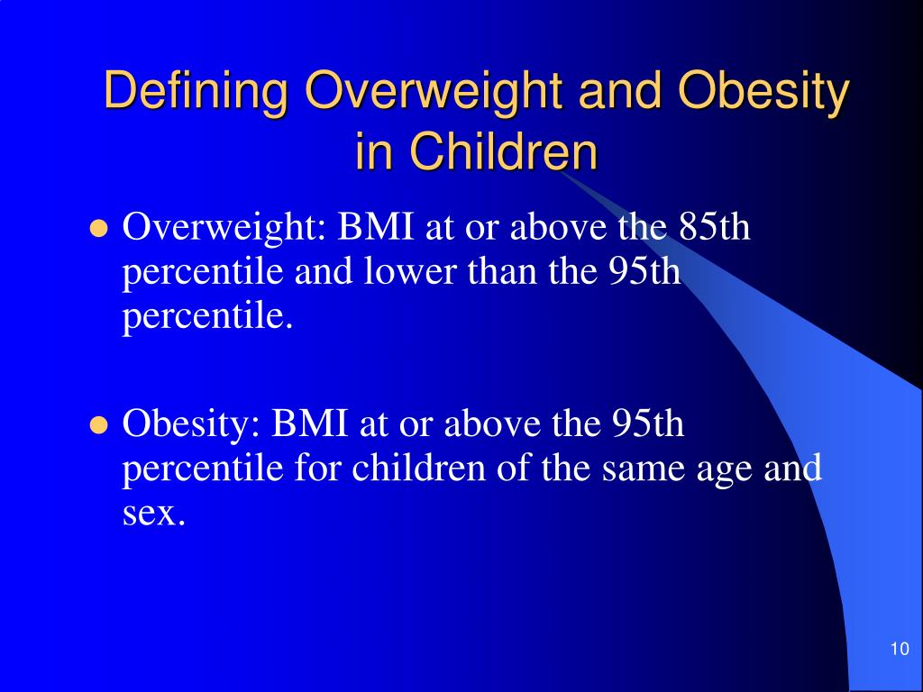 Defining Overweight and Obesity in Children
