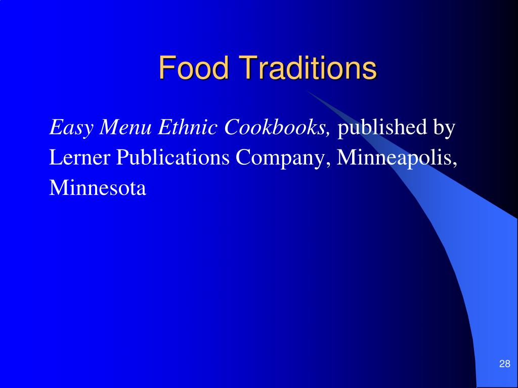 Food Traditions