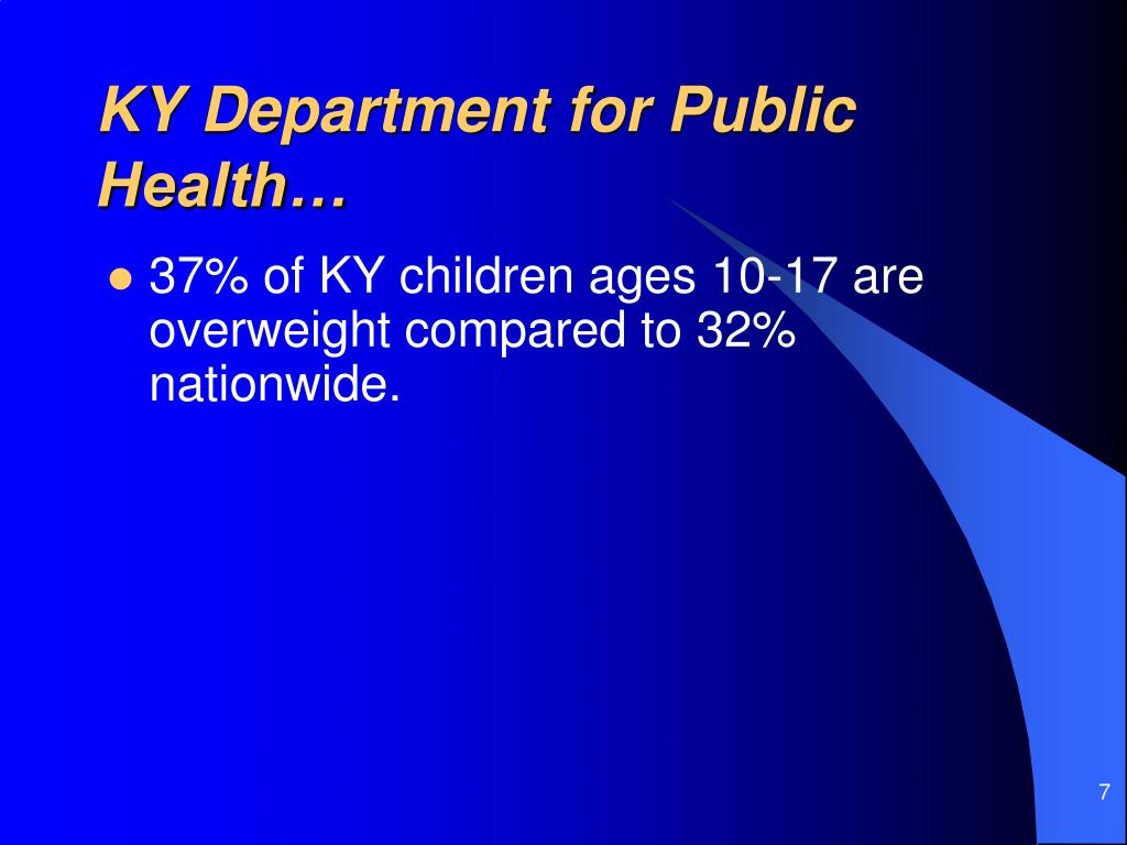KY Department for Public Health…