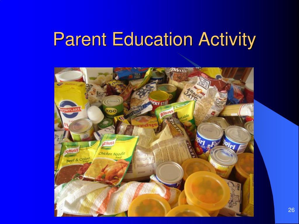 Parent Education Activity