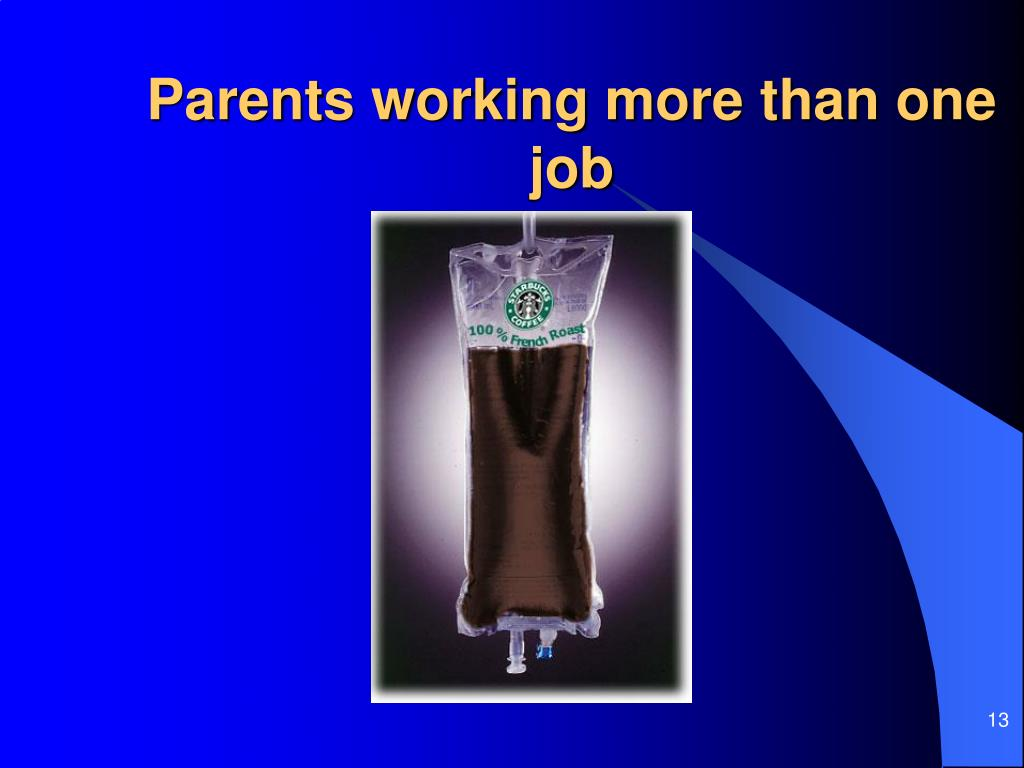 Parents working more than one job