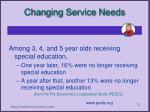 changing service needs13