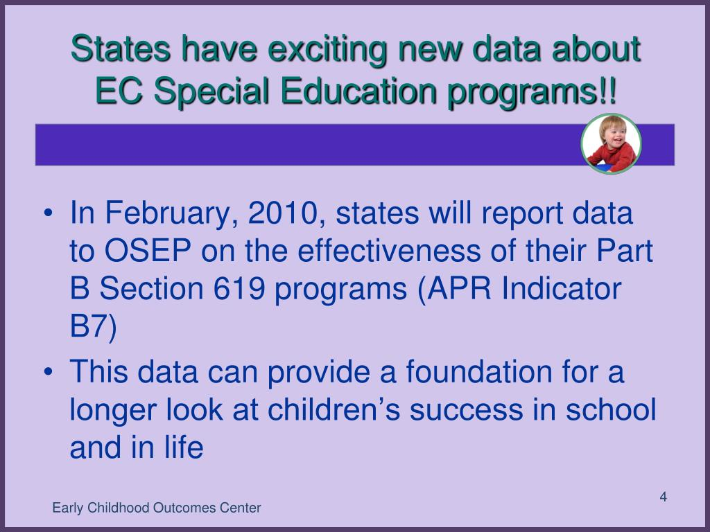 States have exciting new data about EC Special Education programs!!