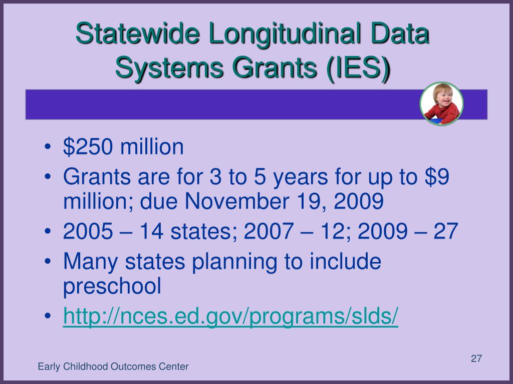 Statewide Longitudinal Data Systems Grants (IES)