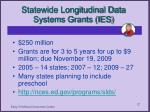 statewide longitudinal data systems grants ies