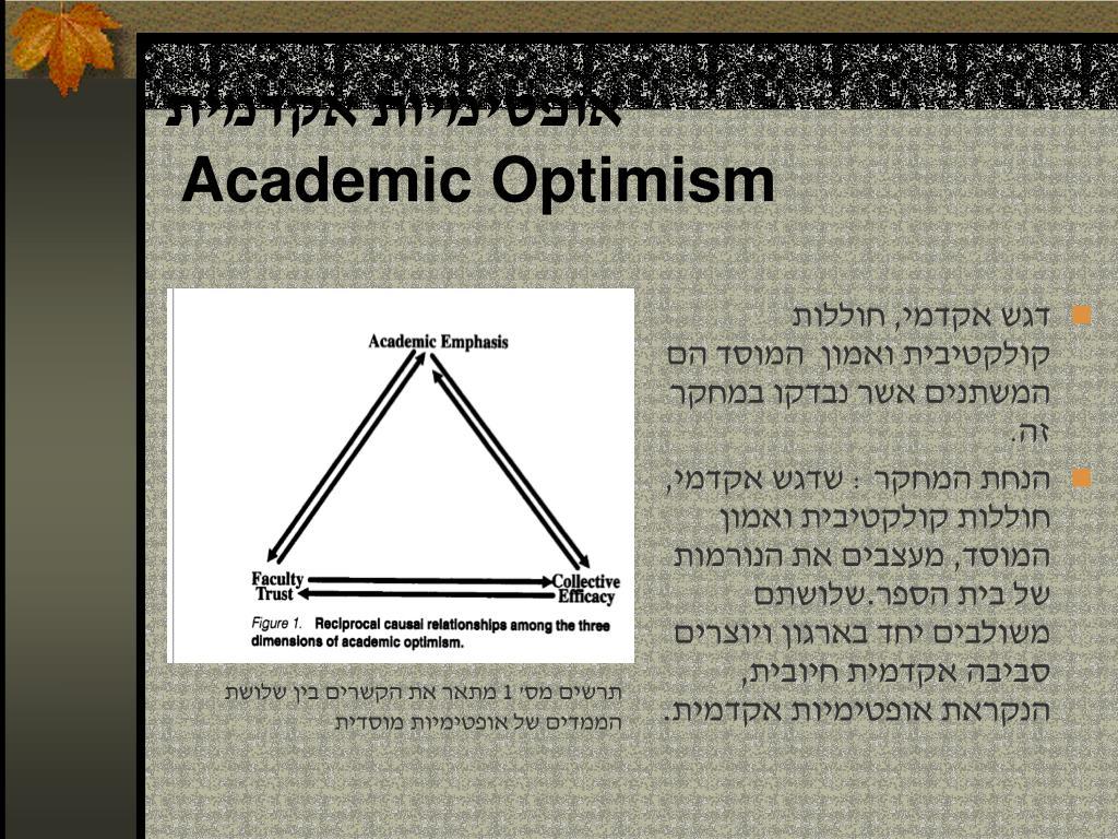 אופטימיות אקדמית