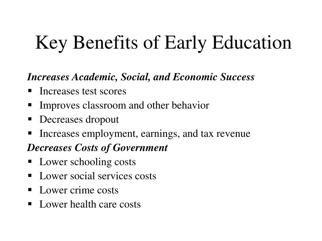 Key Benefits of Early Education