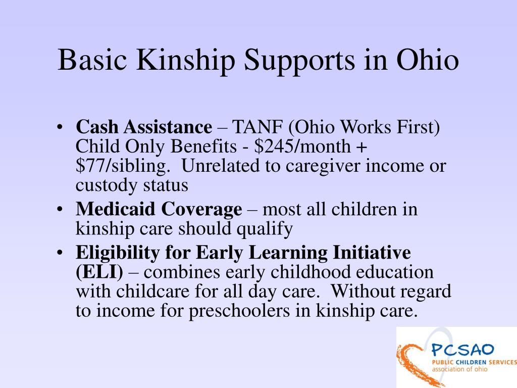 Basic Kinship Supports in Ohio