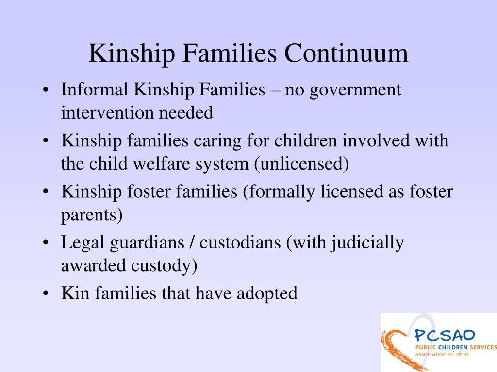 Kinship Families Continuum