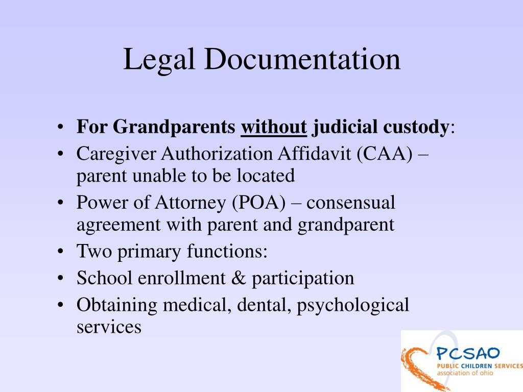 Legal Documentation