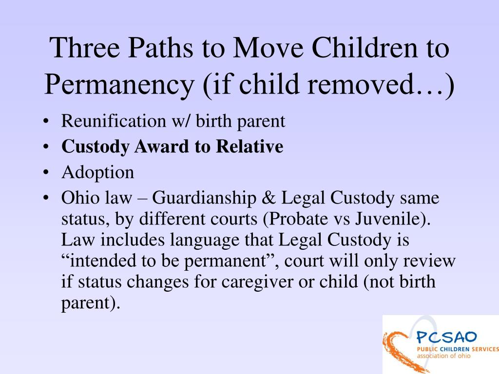 Three Paths to Move Children to Permanency (if child removed…)