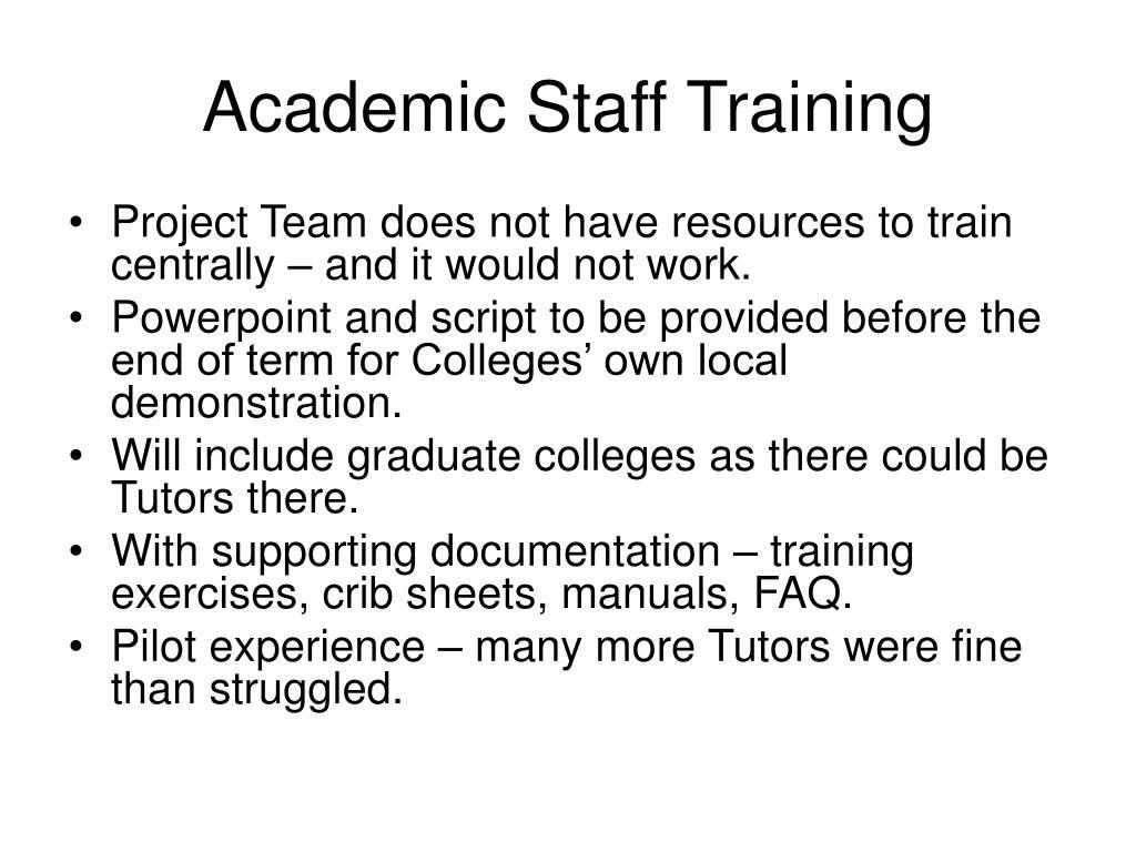 Academic Staff Training