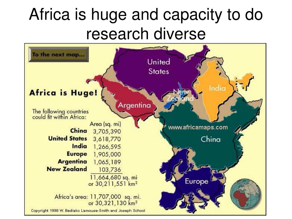Africa is huge and capacity to do research diverse
