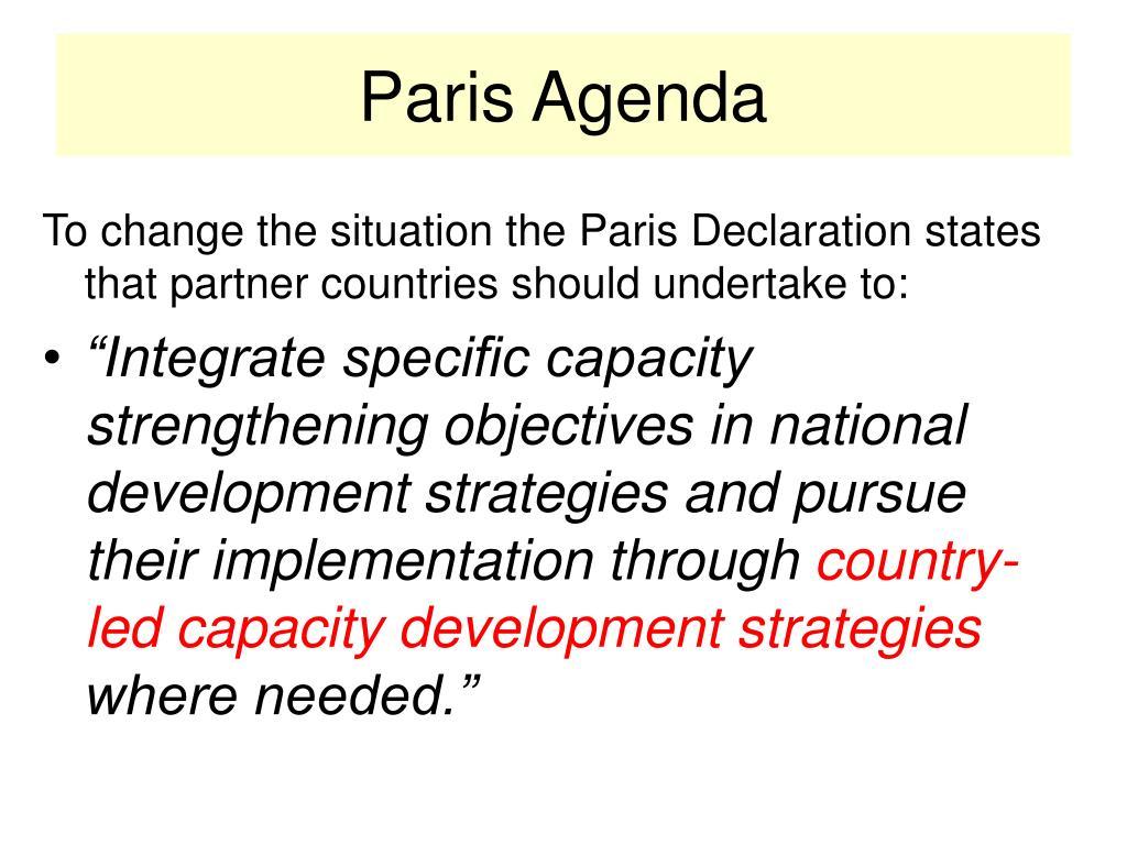 Paris Agenda