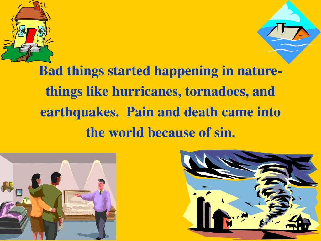 Bad things started happening in nature-
