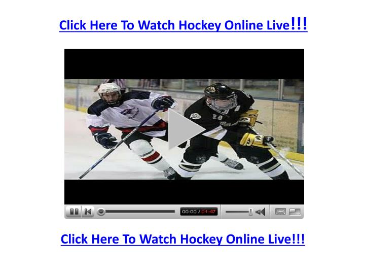 Click Here To Watch Hockey Online Live