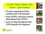 crafts value chain key issues governance18