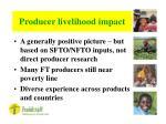 producer livelihood impact27