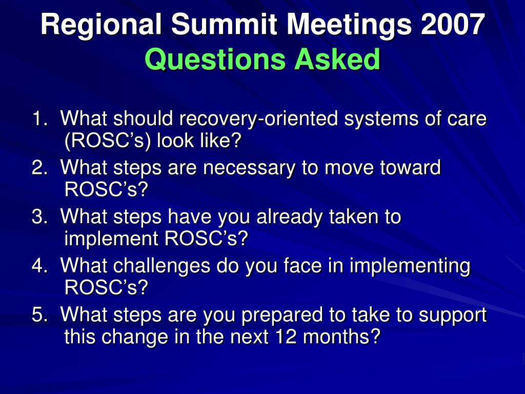 Regional Summit Meetings 2007