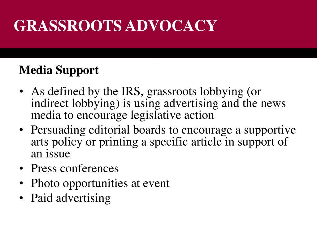 GRASSROOTS ADVOCACY