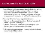 legalities regulations