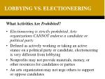 lobbying vs electioneering