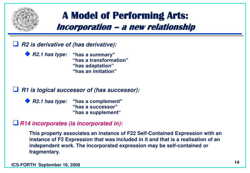 A Model of Performing Arts:
