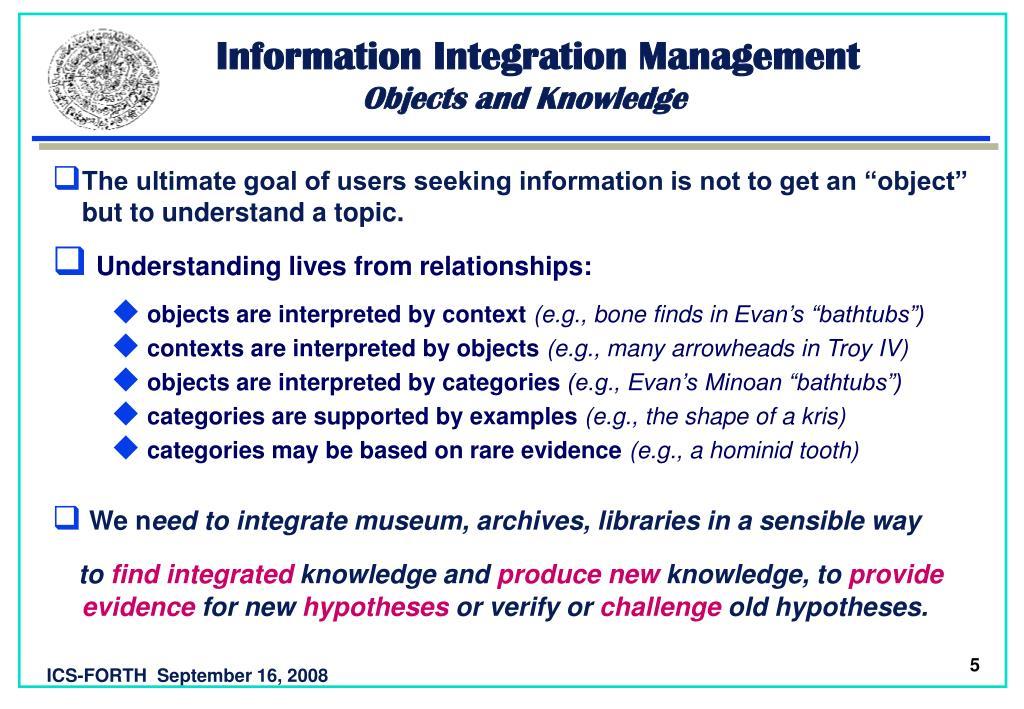 Information Integration Management