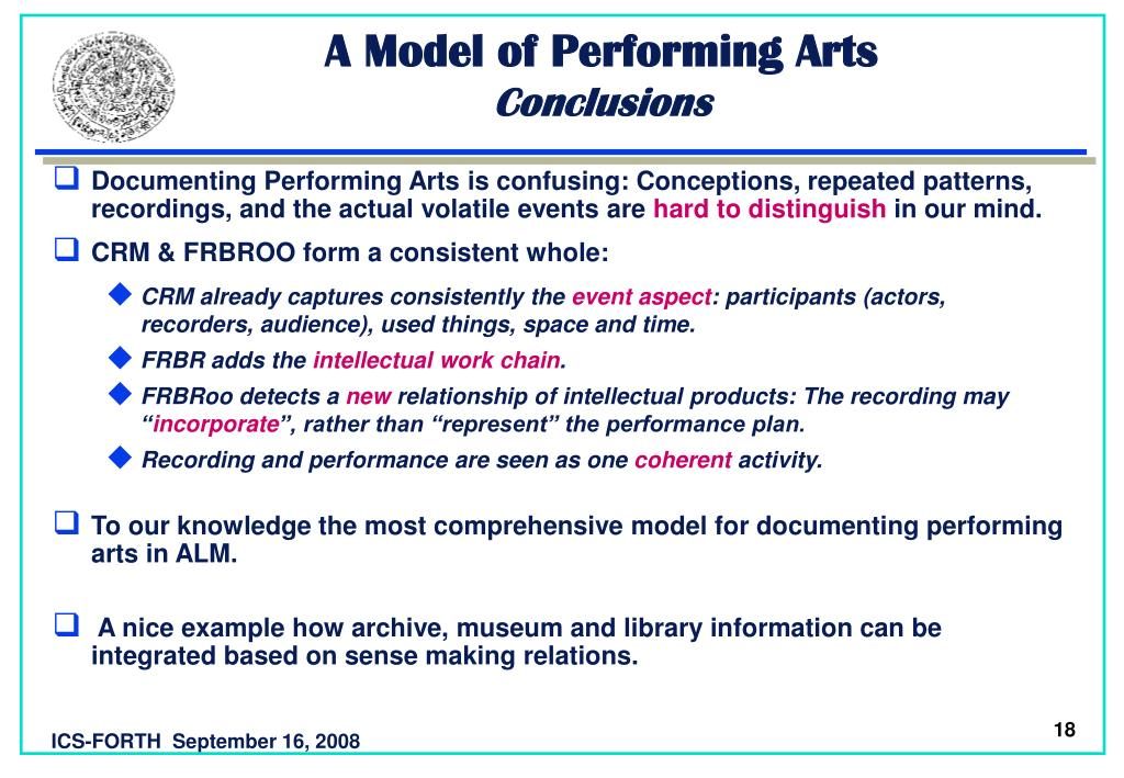 A Model of Performing Arts