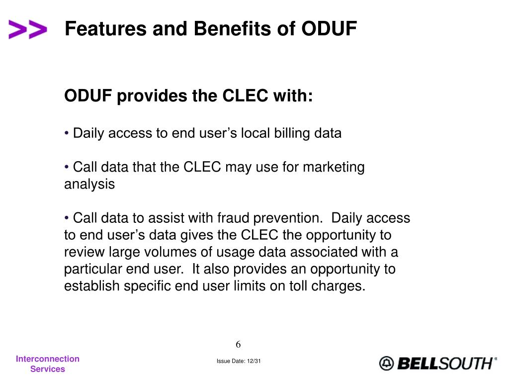 Features and Benefits of ODUF