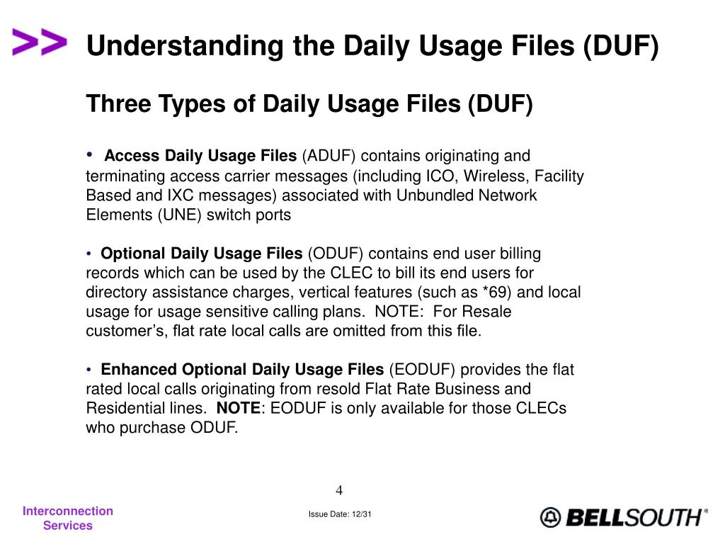 Understanding the Daily Usage Files (DUF)