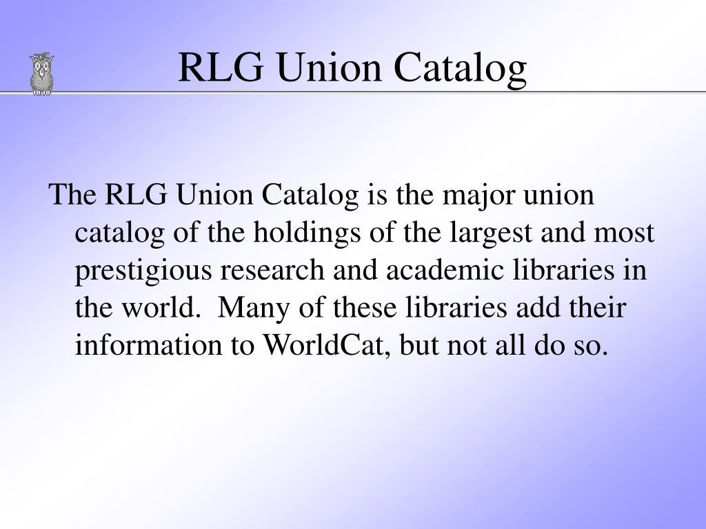 RLG Union Catalog