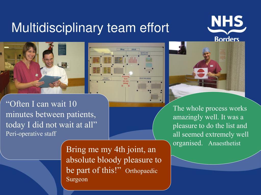 Multidisciplinary team effort
