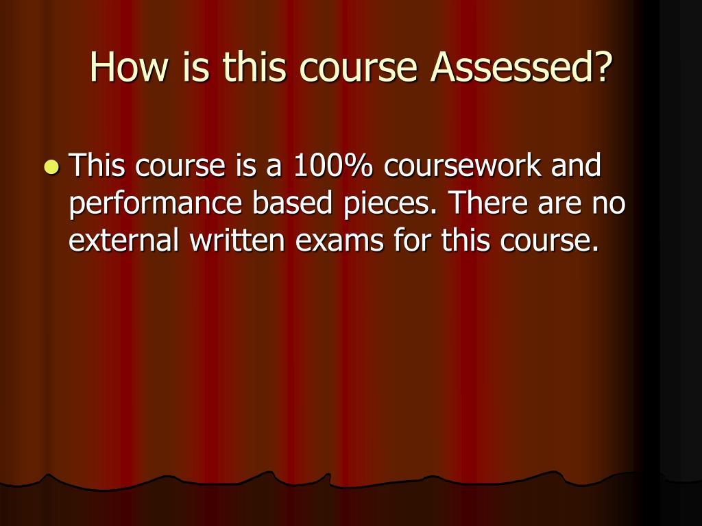 How is this course Assessed?