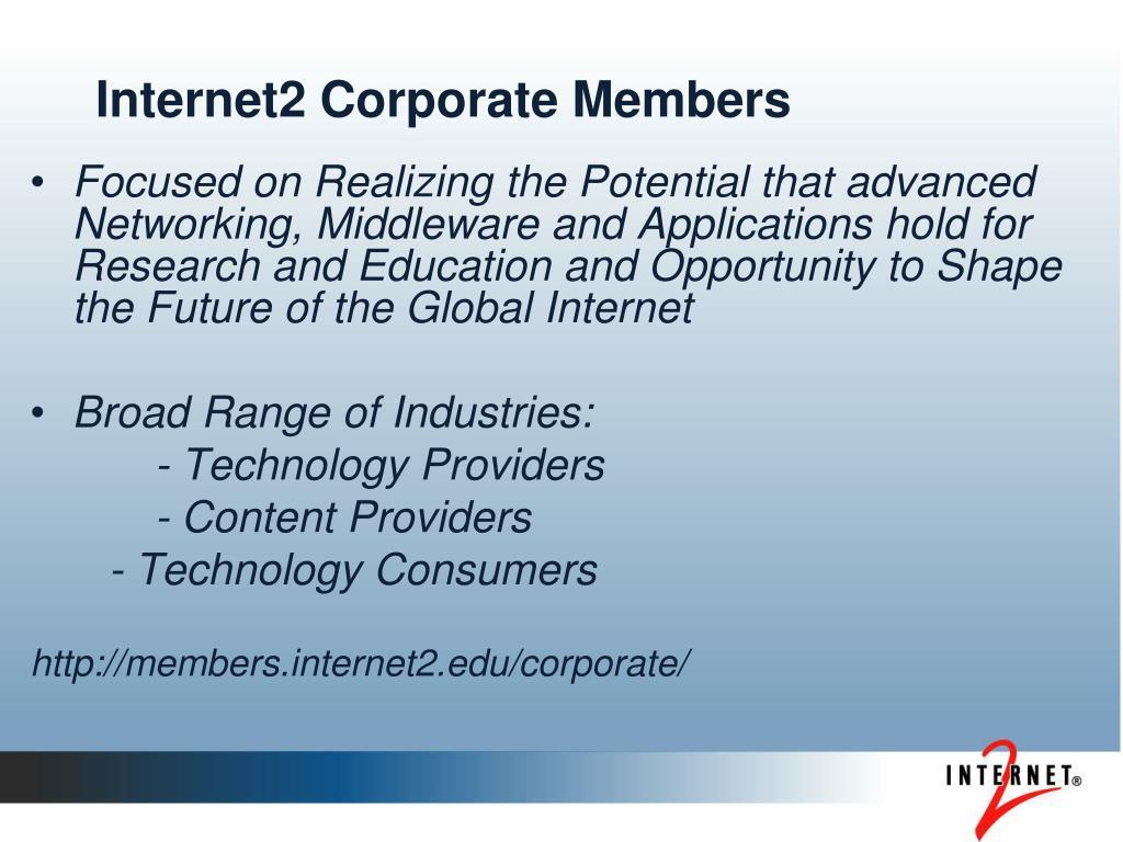 Internet2 Corporate Members
