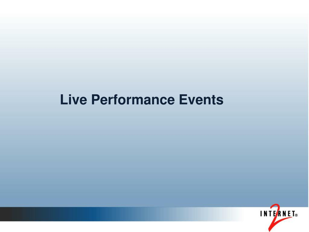 Live Performance Events