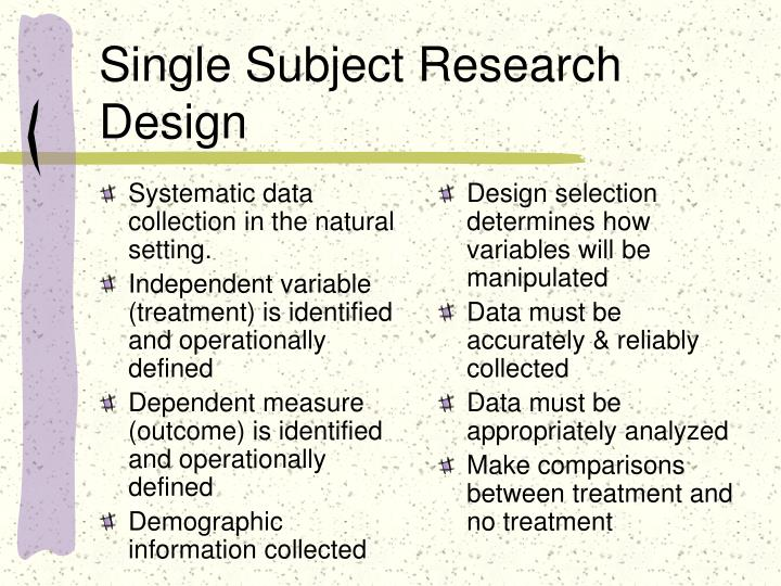 Single subject research design