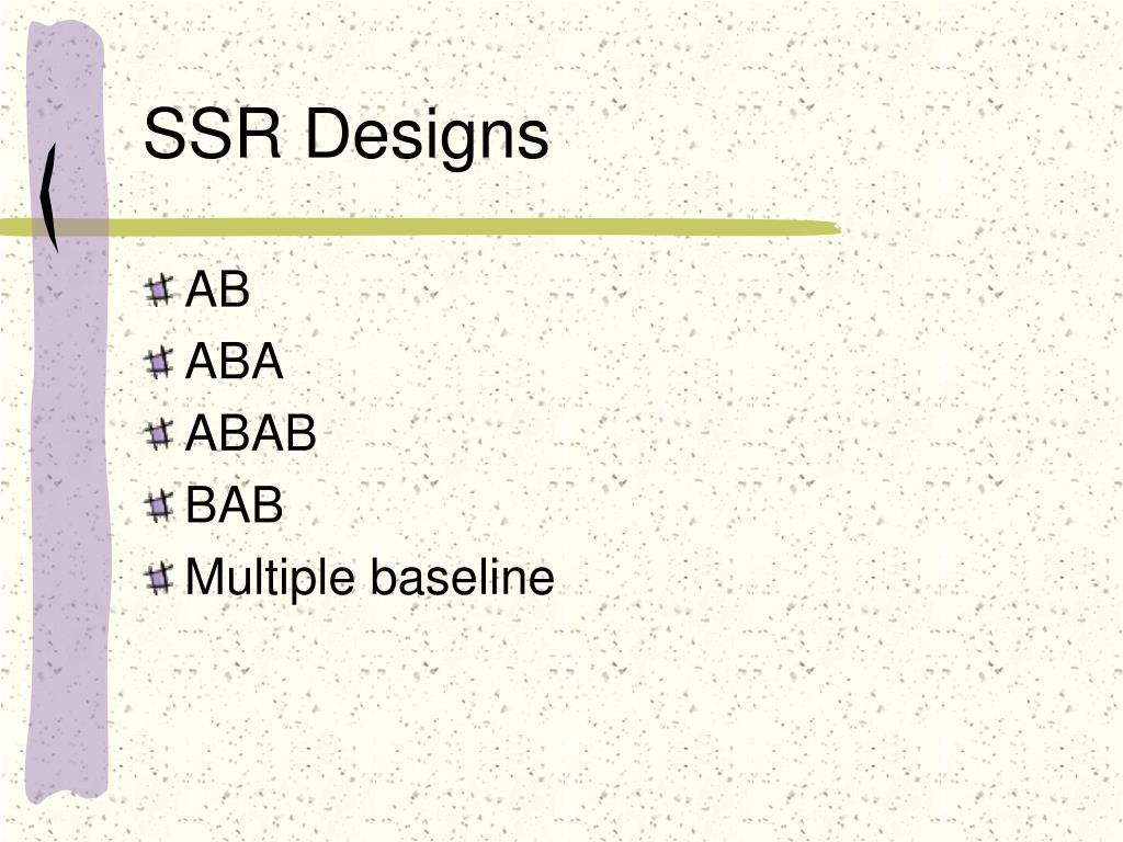 SSR Designs
