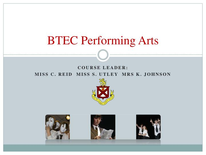 Btec performing arts
