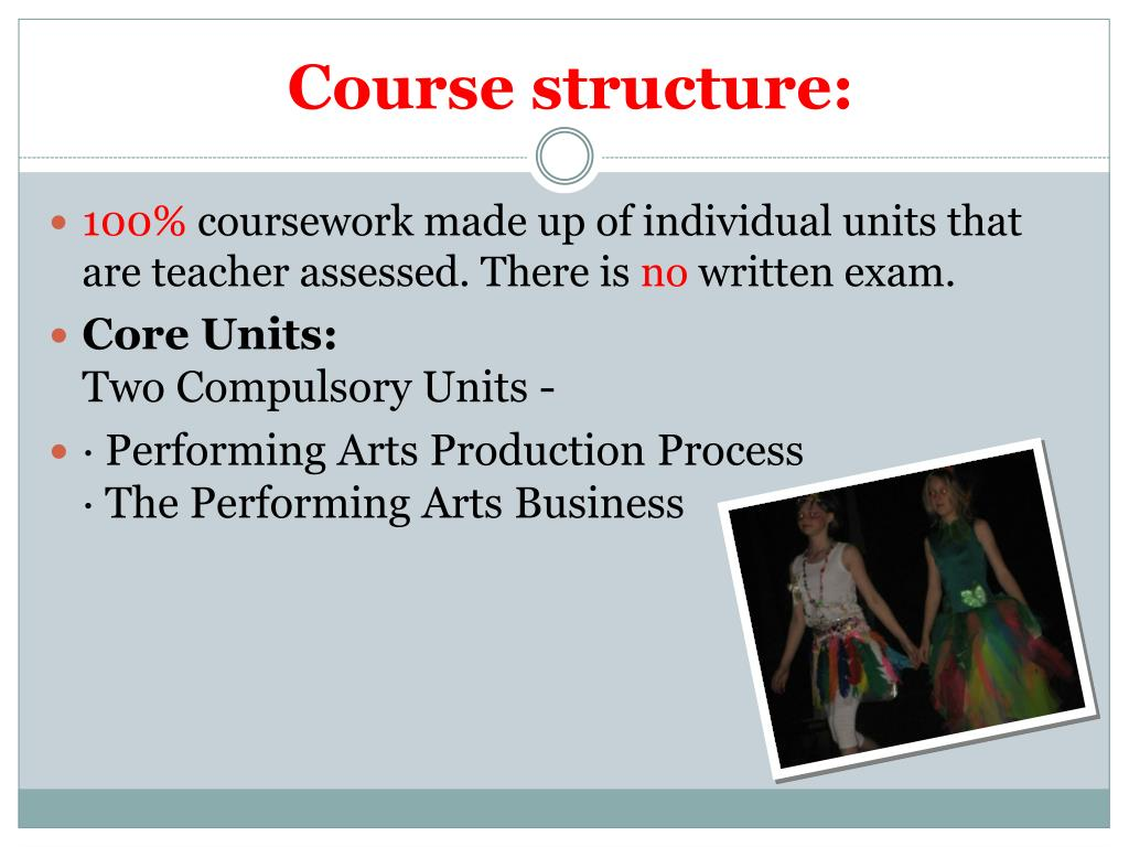 Course structure: